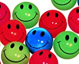Mini Neon Smile Face Bouncing Balls (144 pc)