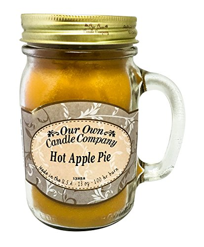 Hot Apple Pie Scented 13 Ounce Mason Jar Candle By Our Own Candle Company (Pie Mason Jars compare prices)