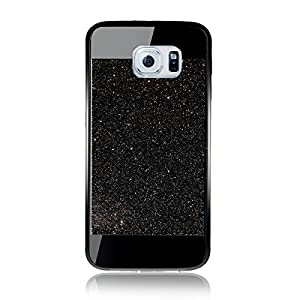 Etche Case para Samsung Galaxy S6,Caso de goma para Galaxy S6,Caso de lujo para Samsung S6,Caso de la piel del gel del caucho suave cubierta trasera para Galaxy S6,Caso brillante del brillo brillante para el S6,Rhinestone Caso tachonado diamante para el S