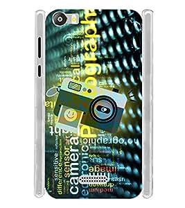 Vintage Digital Click Selfie Camera Soft Silicon Rubberized Back Case Cover for Micromax Canvas 5 E481