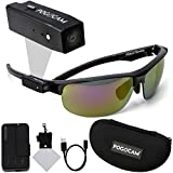 PogoCam Wearable Camera, PogoTec AGS Black Pacific Frames and Polaroid Micro Fiber Cloth With Case