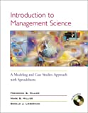 img - for Introduction to Management Science: A Modeling Abd Case Studies Approach With Spreadsheets book / textbook / text book