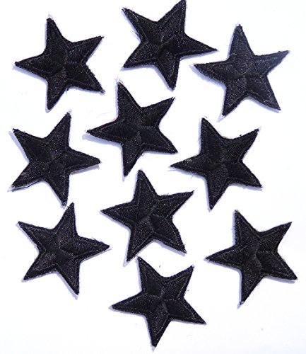 pack-of-10-black-iron-on-or-sew-on-star-patch-applique