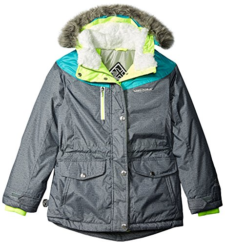 ZeroXposur Big Girls' Selena Parka with Headband, Heather, Medium/10-12