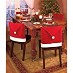 Pack of 6 Santa Hat Dining Chair Cove...