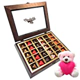 Chocholik Luxury Chocolates - Stylish Luscious Love Chocolates With Teddy