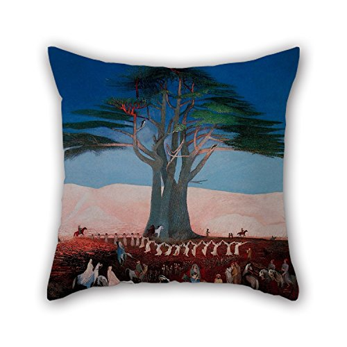 18 X 18 Inches / 45 By 45 Cm Oil Painting Csontváry Kosztka, Tivadar - Pilgrimage To The Cedars Of Lebanon Pillowcase,twin Sides Is Fit For Deck Chair,kids Boys,play Room,adults,bar,son (Cedar Wine Press compare prices)