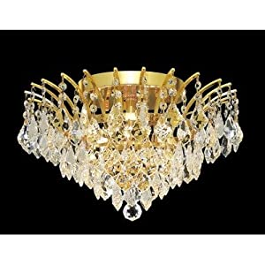 Amazon.com: Victoria 6 Light Semi Flush Mount Finish: Gold ...