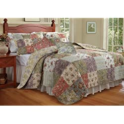 Greenland Home Blooming Prairie King Quilt Bonus Set