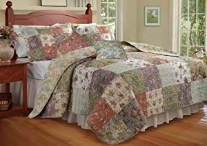 Greenland Home Blooming Prairie Full/Queen Quilt Bonus Set