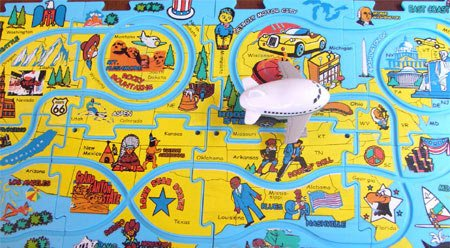 Picture of HobbyTron.com Puzzle Track Playset with Vehicle & Accessories (B000JCLH1A) (Puzzle Accessories)