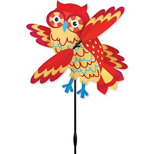 Orange Owl Whirligig Spinner