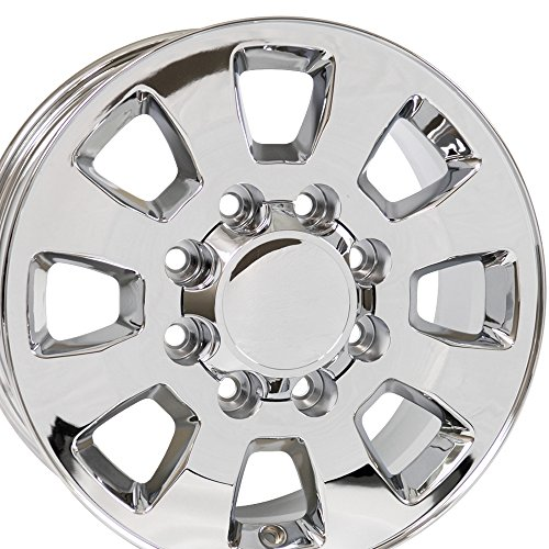 18x8 Wheel Fits Chevy Truck - Sierra/2500/3500 Style Chrome Rim (Chevy 2500hd Rims And Tires compare prices)