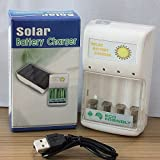 Meijibo USB cable + 0.5W Solar Battery Charger for 4 pc AA/AAA GREEN POWER J14U