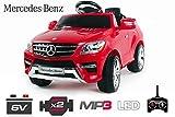 Lizenz Kinderauto Mercedes ML350 Jeep 6V 2x25W Motor RC Elektroauto