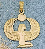 18k Gold Winged Isis Pendant