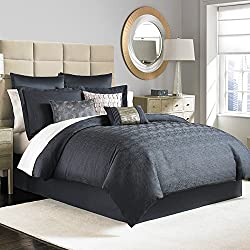 King Complete Bedding Set (Manor Hill Ripple Ink)
