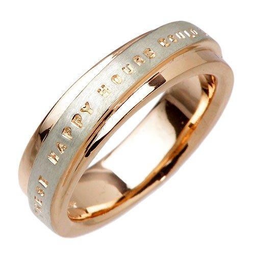 PMR ピーエムアール カラーコーティング シルバー メッセージ リング 指輪