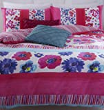 Catherine Lansfield Watercolour Floral Double Bed Quiltset, Multi