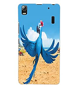 ColourCraft Lovely Parrot Design Back Case Cover for LENOVO K3 NOTE