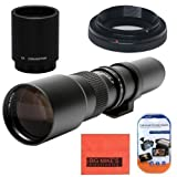 High-Power 500mm/1000mm f/8 Manual Telephoto Lens for Nikon D90, D500, D3000, D3100, D3200, D3300, D3400, D5000, D5100, D5200, D5300, D5500, D7000, D7100, D7200, D300, D300s, D600, D610, D700, D750, D800, D800e, D810 DSLR