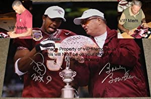 Autographed Peter Warrick Photo - Bobby Bowden & Florida State Seminoles 11 x 14... by Sports+Memorabilia
