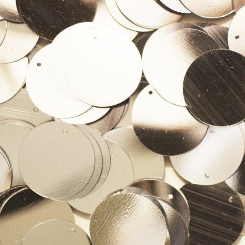 Darice Craft Designer Sequins - 20mm Silver Paillettes