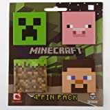 Minecraft 4 Pin Pack