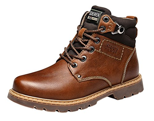 gheaven-first-layer-of-leather-mens-casual-martin-tooling-high-top-boots-size-8-uk-coffee