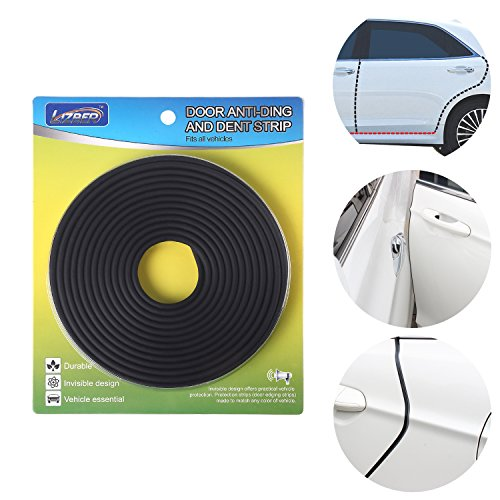 Universal Car Door Edge Guard Invisible - 26 ft Auto Door Trim Molding Vehicle Door Dings and Dents Protector - Matte Black Fits Most Vehicle by Lizber (Door Bumpers Auto compare prices)