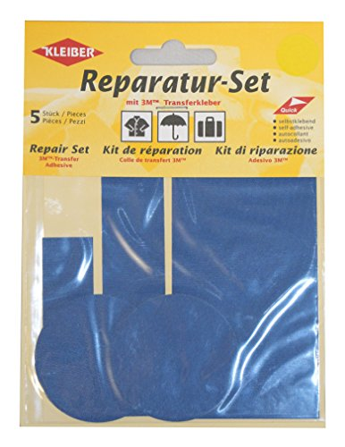kleiber-5-piece-self-adhesive-nylon-clothing-repair-patch-set-blue