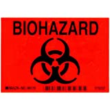 Brady Black On Orange Color Biohazard Sign, Legend Biohazard (With Picto)