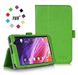 [Corner Protection] ASUS MeMo Pad 7 ME 176CX Case Cover, FYY Premium Soft Folio Leather Case for ASUS MeMo Pad 7 ME 176CX Green (With Auto Wake/Sleep Feature)