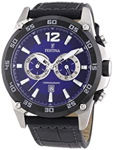 Festina Herren-Armbanduhr XL Sport Chronograph Quarz Leder F16673/5