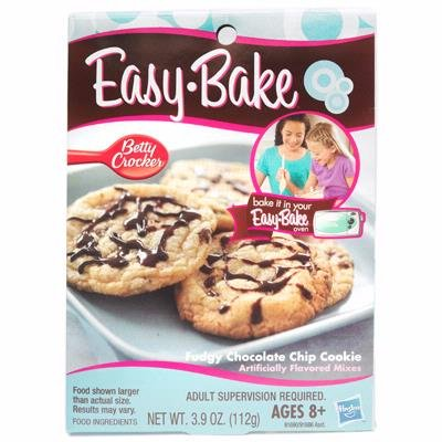 Hasbro Easy Bake Oven Fudgy Chocolate Chip Cookie Mixes