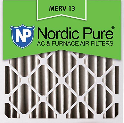 Nordic Pure 24x24x4M13-1 24x24x4 MERV 13 Pleated AC Furnace Air Filter, Box of 1, 4-Inch