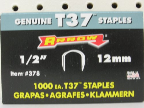 ARROW FASTENER T37-1 2 T37 1 2 STAPLES 1000PKB00021XHVG