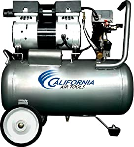 California Air Tools CAT-6310 Ultra Quiet and Oil-Free 1.0 Hp 6.3-Gallon Steel Tank Air Compressor from California Air Tools- Home Improvement