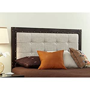 Image Result For Industrial Upholstered Panel Metal Bed With