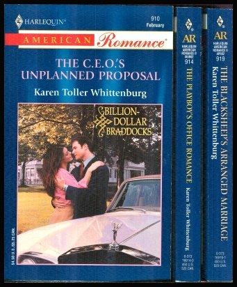 Kathy Whittenburg's Billion-Dollar Braddocks (3 books) : C. E. O.' s Unplanned Proposal ~ Playboy's Office Romance ~ Blacksheep's Arranged Marriage PDF