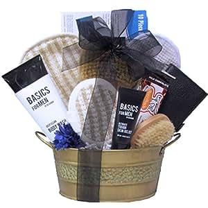 great arrivals spa gift basket just for men. Black Bedroom Furniture Sets. Home Design Ideas