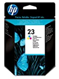 HP 23 Tri-Color Inkjet Print Ink Cartridge in Retail Packaging