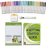 Cricut Machine Bulk Pen Set, DIY Sticker Paper and Essential Tools (Color: Multi)