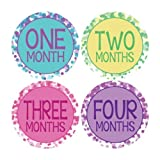 Dots Style Monthly Onesie Stickers - Baby Photo Prop - Newborn Sticker - Bodysuit Stickers - Colorful Dots Stickers...
