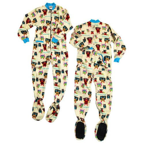 "Lazy One Girl'S 1Pc. Pajama Footie ""Owl Yours"" (4T) back-78053"