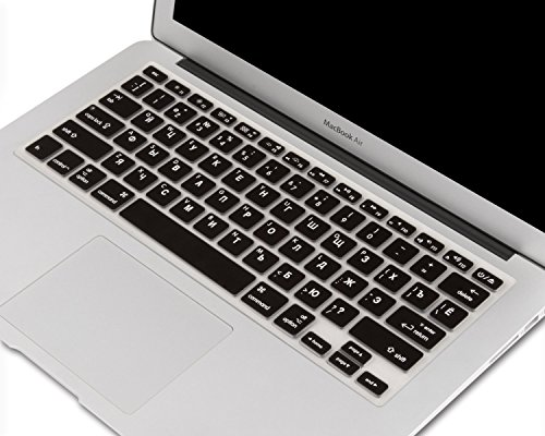 """Heartly Premium Soft Silicone Keyboard Skin Crystal Guard Protector Cover For MacBook 13"""" / 13.3"""" / 15"""" / 17"""" inch Rugged Black"""