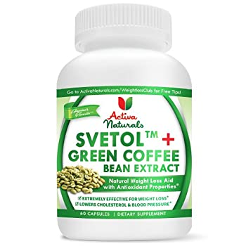 Pure Green Coffee Bean Extract Supplement Dr Oz Recommended - Clinically-Proven SVETOL(R) Green Coffee Bean Extract 800mg - 200mg SVETOL(R)+ 600mg Green Coffee Bean Extract in 1 Serving (2 capsules) - 60 Capsules