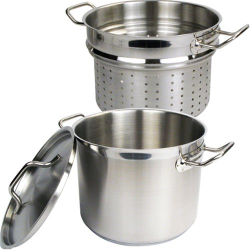 Winware Stainless 20 Quart Steamer/Pasta Cooker with Cover