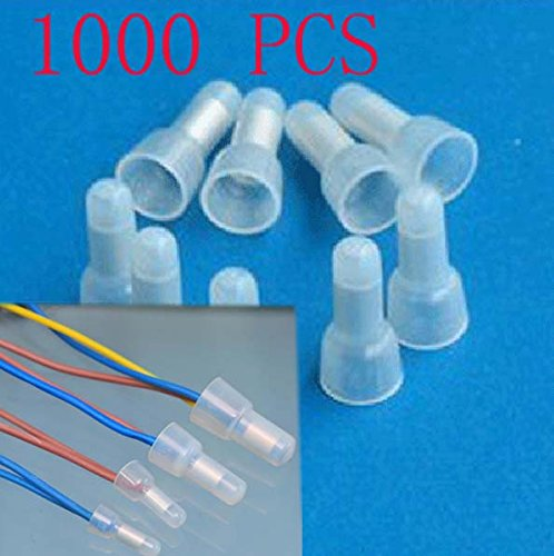 Rextin 1000pcs Transparent CE2 Protective Closed End Wire Crimp Connector Cap (1000pcs)