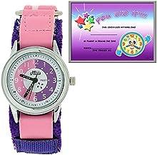 Relda REL16 - Reloj de aprendizaje, rosa y violeta, correa de velcro, para niños